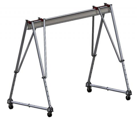 "Wallace 3 Ton Aluminum Tri-Adj Gantry Crane, 10'0"" High 10"