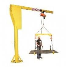 Abell-Howe 1/2-Ton Jib Crane, 10' High 12' Span, JF904B photo