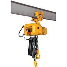 Harrington 1/2-Ton Electric Hoist, 15', Push Trolley, NERP005L-15 photo