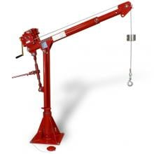Thern 1000 lb Commander Davit Crane, Electric Winch, 5PT10-E2 photo