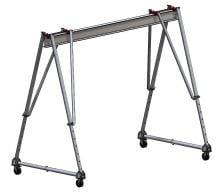"Wallace 2 Ton Aluminum Tri-Adj Gantry Crane, 12'6"" High 10"
