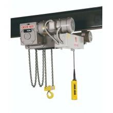 Chester 2 Ton Electric Chain Hoist, Low Headroom Push Trolley photo