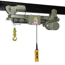Chester 1 1 2 ton wire rope hoist 16 39 lift motorized trolley for 2 ton hoist with motorized trolley